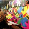 Nupital knot through spring kite festival