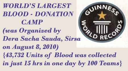 Worlds Largest Blood Donation Camp