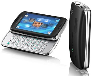 Slide Out QWERTY Keypad Handset - Sony Ericsson Txt Pro