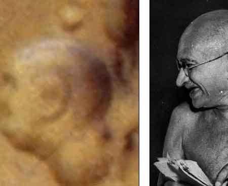 Mahatma Gandhi Seen On Mars