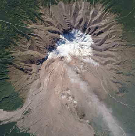 Sheveluch Volcano Emission in Russia