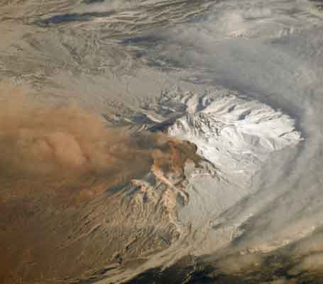Shiveluch Volcano Ash Emission in Russia