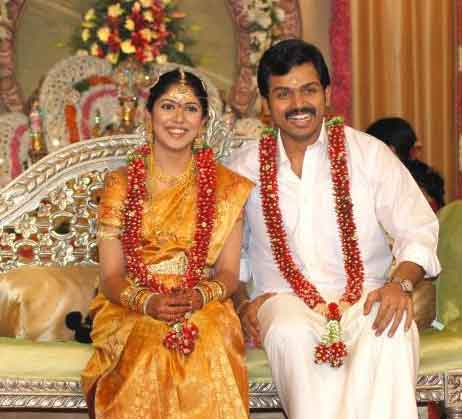 Tamil Actor Karthi - Ranjani Wedding