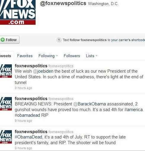 American President Barack Obama dead