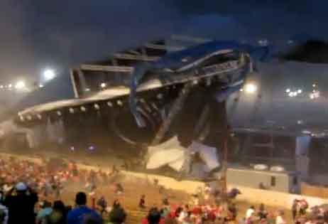 Stage Collapsed in America
