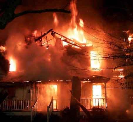Indian House on Fire