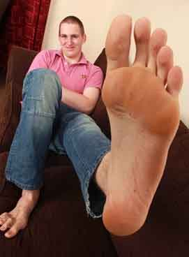Carl Griffiths Biggest Feet