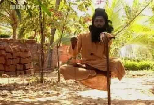 Indian Yogi in air